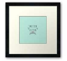 """Smitten Kitten"" Typography Cat Ears & Whiskers  Framed Print"