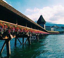 Chapel Bridge in Lucerne, Switzerland by katejryan
