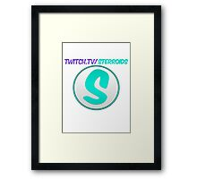 Sterroids twitch logo Framed Print