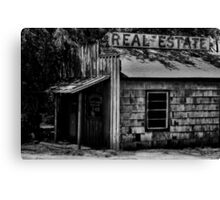 Real Estate Down Canvas Print