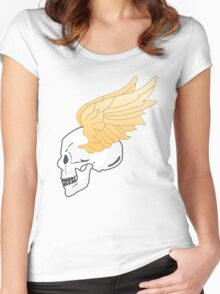 skull and wings Women's Fitted Scoop T-Shirt