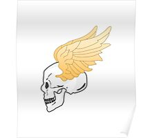 skull and wings Poster