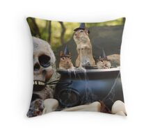 trio of chipmunks Throw Pillow