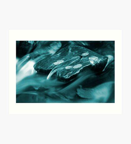 A puddle of blue oblivion Art Print