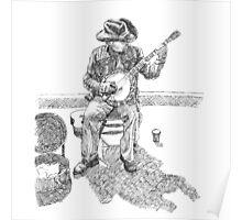 Banjo Player Poster