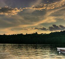 Rowboats at Dusk by Wayne King