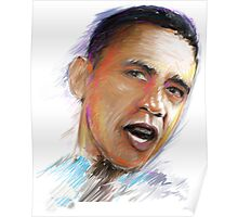 Barack Obama Portrait by James Cattlett Poster