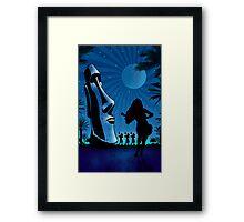 Tiki Night Art by James Cattlett Framed Print