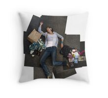 Pieced together Throw Pillow
