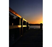 Jetty At Sunset Photographic Print