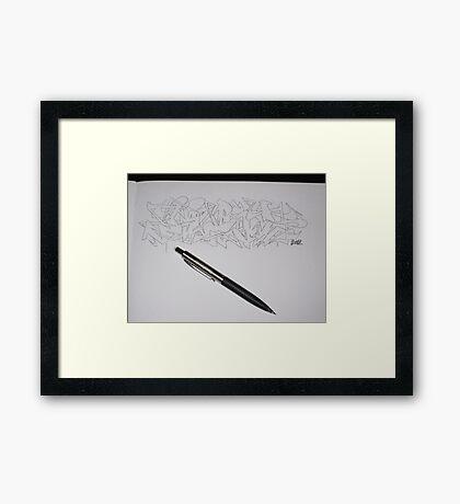 Jest Sketch Framed Print