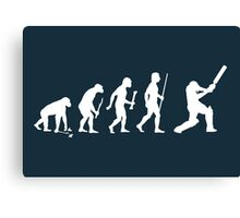 Evolution of Man and Cricket Canvas Print