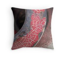 Red Crackle Throw Pillow