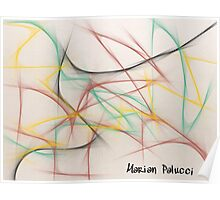 Roller Coaster Abstract Poster