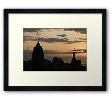 The Skies Awake Framed Print