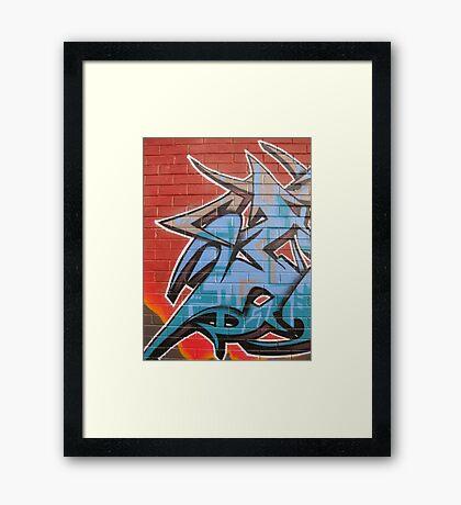 Jest Graffiti Framed Print