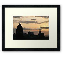 Morning Skyline Framed Print