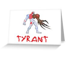 Resident Evil - Tyrant Greeting Card