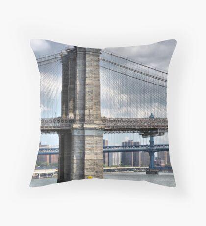 Brooklyn, Manhattan, Williamsburg Throw Pillow