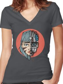 Tech Invasion  Women's Fitted V-Neck T-Shirt