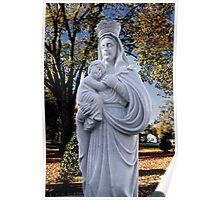 Mother Mary and Jesus Poster
