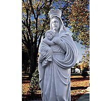 Mother Mary and Jesus Photographic Print