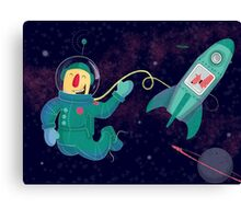 Astronauts can float Canvas Print