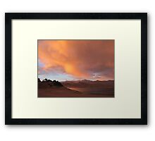 Stormy and Cloudy Sunset View Framed Print