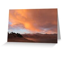 Stormy and Cloudy Sunset View Greeting Card