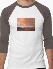 Stormy and Cloudy Sunset View Men's Baseball ¾ T-Shirt