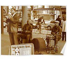 Street Musician, Market street, SF Poster