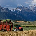 Making Hay, Shadow of the Tetons, Walton Ranch by A.M. Ruttle