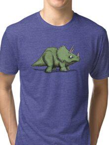 Trike - triceratops Tri-blend T-Shirt