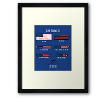 Flag Folding 101 Framed Print