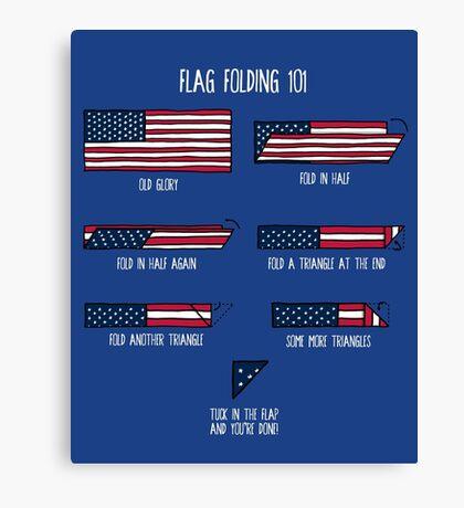 Flag Folding 101 Canvas Print