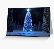 The Blue Light Tree Greeting Card