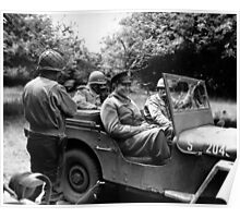 General Eisenhower In A Jeep -- WW2 Poster