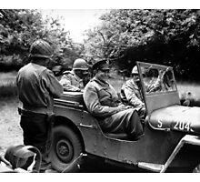 General Eisenhower In A Jeep -- WW2 Photographic Print