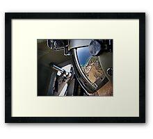 reflections of a visor Framed Print