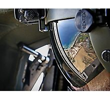 reflections of a visor Photographic Print