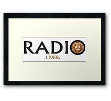 Radio Lives - Copper Framed Print