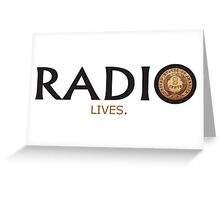 Radio Lives - Copper Greeting Card