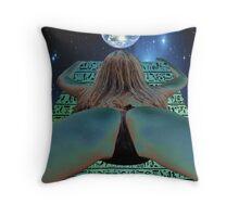 Alien Desender Throw Pillow