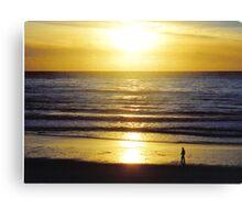 Carmel Beach, California. Sunset Canvas Print