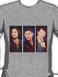 Jared Padalecki, Jensen Ackles, and Misha Collins T-Shirt