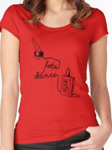 Let's Dance (cable) - Footloose Women's Fitted Scoop T-Shirt