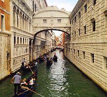 Bridge of Signs in Venice by katejryan