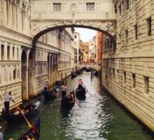Bridge of Signs in Venice Sticker