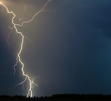 Hot January Night Lightning near Lismore by Michael Bath