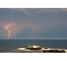 Port Macquarie Beach Lightning Photographic Print
